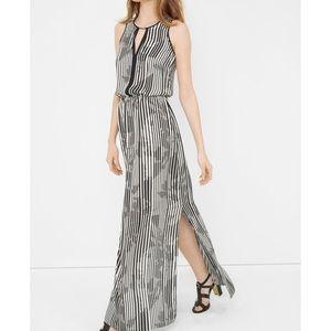 White House Black Market Striped Maxi Dress 00